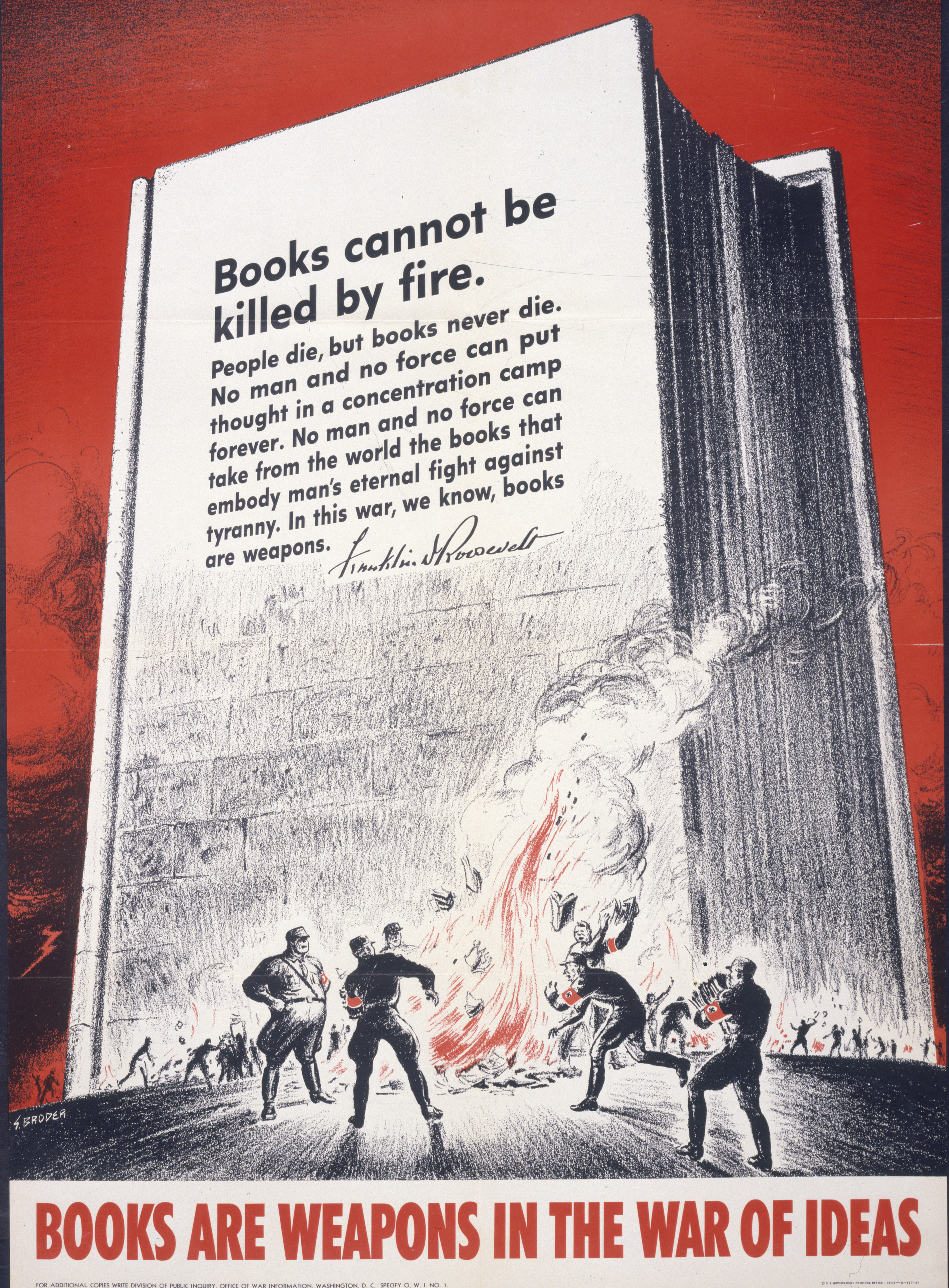 Books are Weapons in the War of Ideas - National Archives and Records Administration - World War II Posters, 1942 - 1945