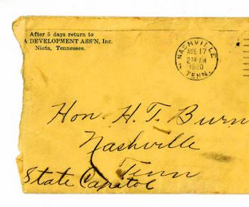 Letter to Harry Burn
